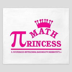 Math Princess King Duvet