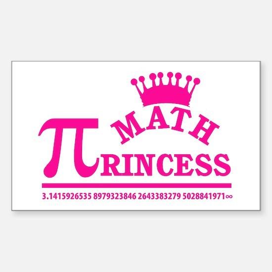 Math Princess Decal