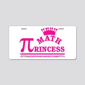 Math Princess Aluminum License Plate