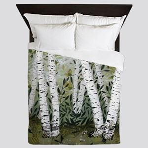 Birch Trees Queen Duvet