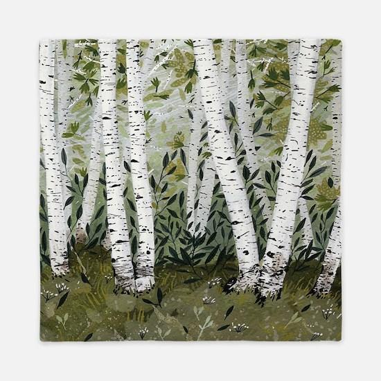 Birch Trees Queen Duvet