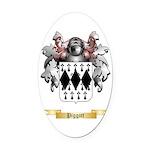 Piggott Oval Car Magnet