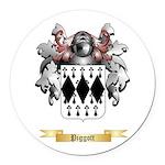 Piggott Round Car Magnet
