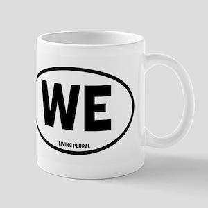 We - Living Plural Euro License Design Mug Mugs
