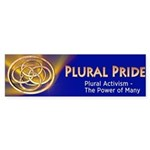 Plural Pride Bumper Sticker Bumper Sticker