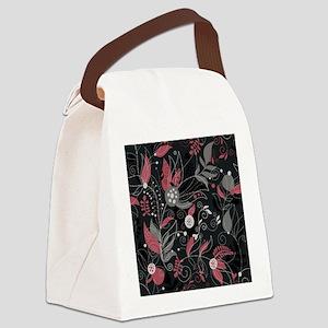 Elegant Leaves Canvas Lunch Bag
