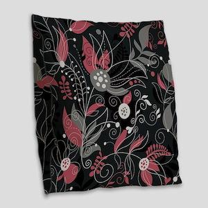 Elegant Leaves Burlap Throw Pillow