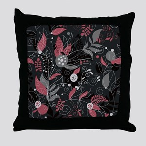 Elegant Leaves Throw Pillow