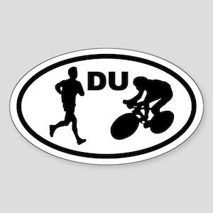 Duathlon Duathletes Oval Sticker