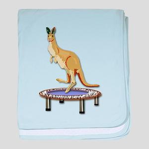 Kangaroo on Trampoline baby blanket