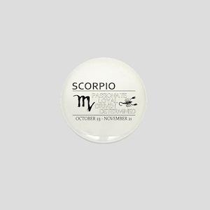 SCORPIO Oct Nov Mini Button