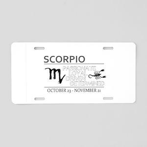SCORPIO Oct Nov Aluminum License Plate