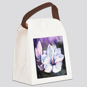 Magnolia Painting Canvas Lunch Bag