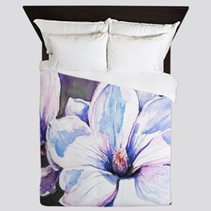 Magnolia Painting Queen Duvet