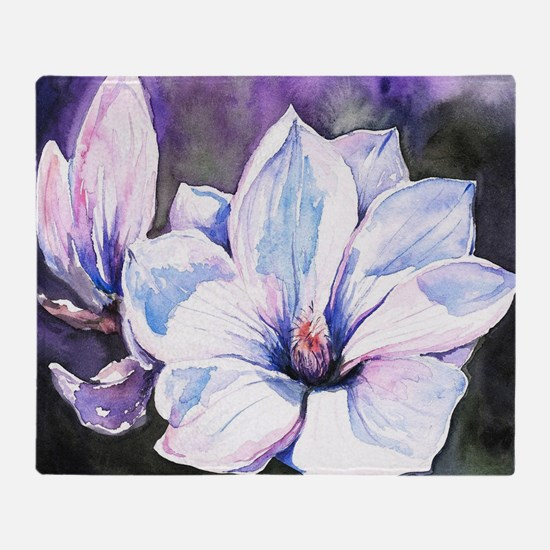 Magnolia Painting Throw Blanket