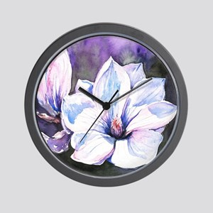 Magnolia Painting Wall Clock