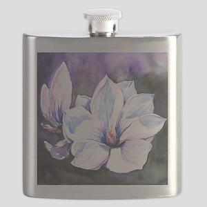 Magnolia Painting Flask