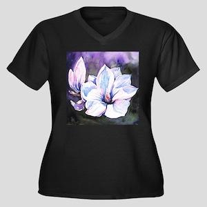 Magnolia Painting Plus Size T-Shirt