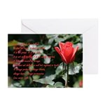 1Cor13- 4-8 -- red rose ~ Cards (Pk of 10)