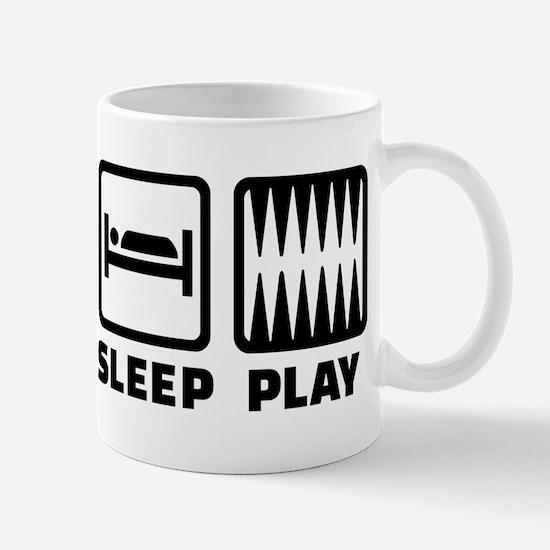 Eat sleep play Backgammon Mug
