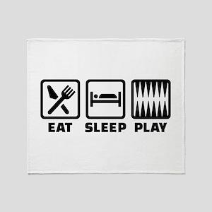 Eat sleep play Backgammon Throw Blanket