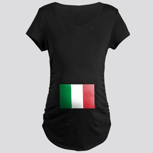 Italian Flag Maternity Dark T-Shirt