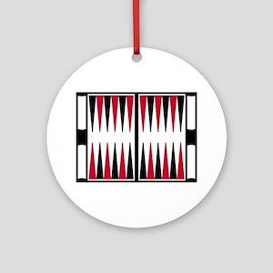 Backgammon board Round Ornament