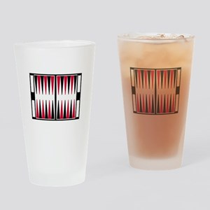 Backgammon board Drinking Glass