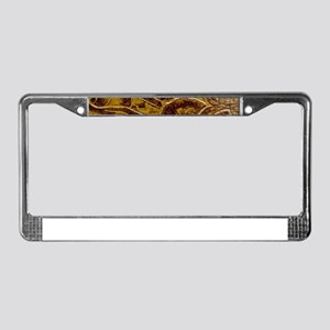 Engraved Leather License Plate Frame