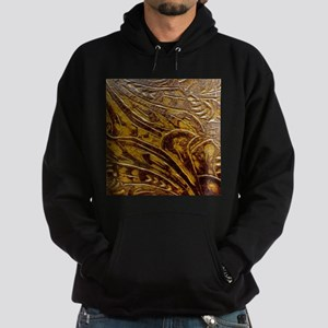Engraved Leather Hoodie
