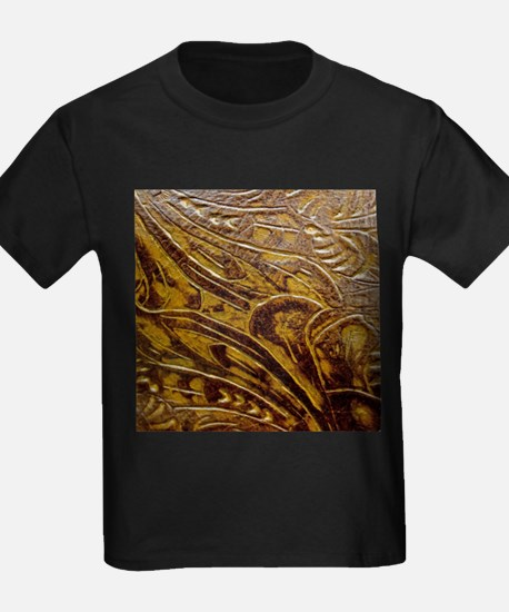 Engraved Leather T-Shirt