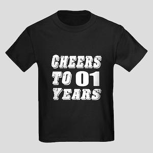 Cheers To 01 Kids Dark T-Shirt
