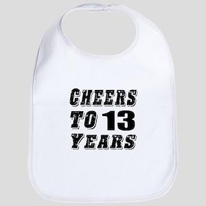 Cheers To 13 Bib