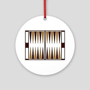 Backgammon Round Ornament