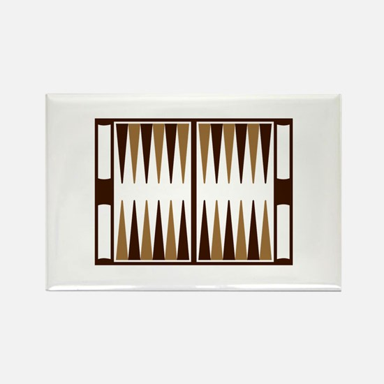 Backgammon Rectangle Magnet