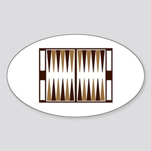 Backgammon Sticker (Oval)