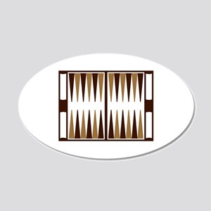 Backgammon 20x12 Oval Wall Decal