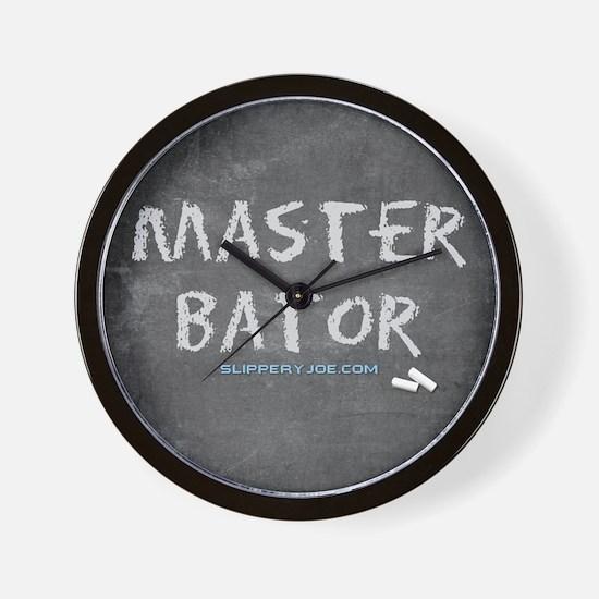 Cute Master Bates Wall Clock