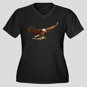 Bald Eagle Art Graphic Plus Size T-Shirt
