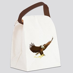 Bald Eagle Art Graphic Canvas Lunch Bag