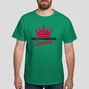 Backgammon Queen Dark T-Shirt