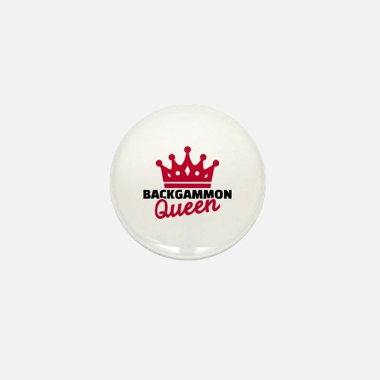 Backgammon Queen Mini Button
