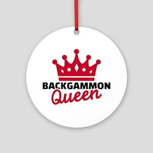 Backgammon Queen Round Ornament