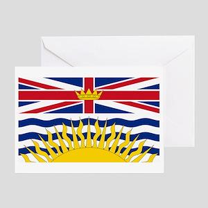 BC Flag Greeting Card