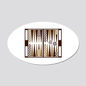 Backgammon board 20x12 Oval Wall Decal