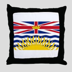 BC Flag Throw Pillow