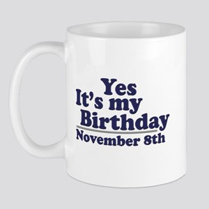 November 8th Birthday Mug