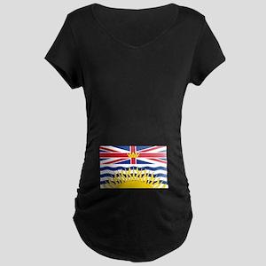 BC Flag Maternity Dark T-Shirt