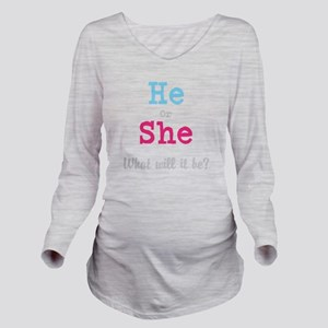 Gender Reveal Long Sleeve Maternity T-Shirt