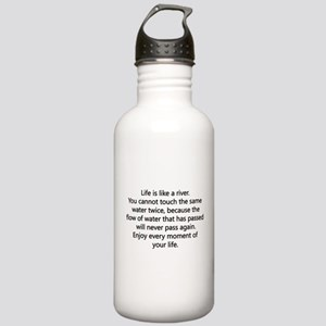 Life Is Like A River Stainless Water Bottle 1.0L